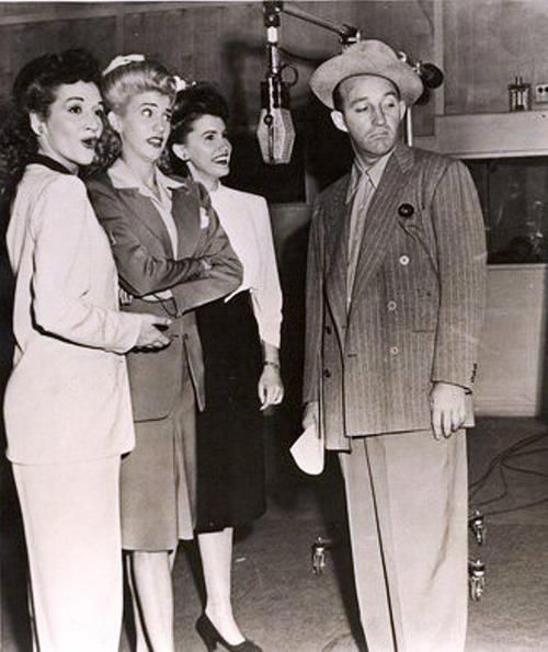 The Andrews Sisters drop by Bing Crosby's Kraft Music Hall, Jan 25, 1945 ~