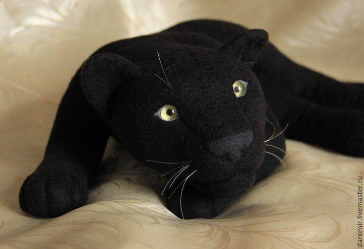 Купить Пантера Багира из войлока - пантера, багира, пантера багира, черный, маугли, подушка