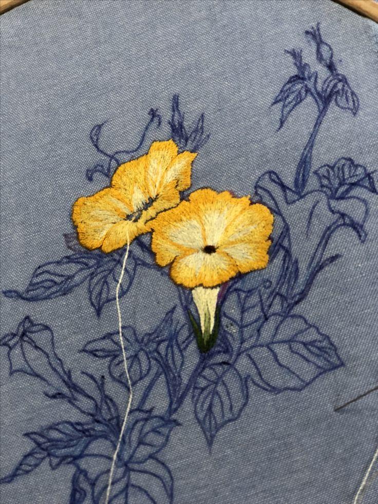 Needlepainting embroidery