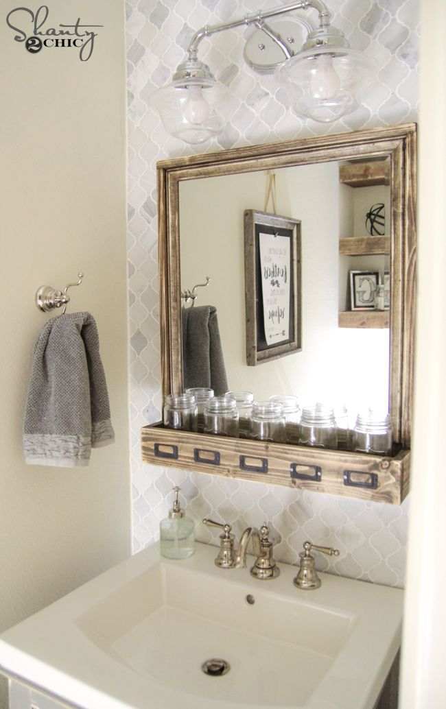 Bathroom Mirror Diy best 25+ diy bathroom mirrors ideas on pinterest | farmhouse kids