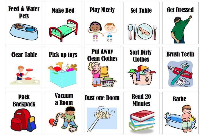 Put Away Clothes En Espanol ~ Printable chore chart upsidedown kate kiddos