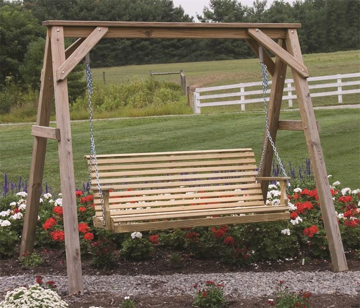 amish a frame swing stand and swing - Wood Porch Swing With Frame