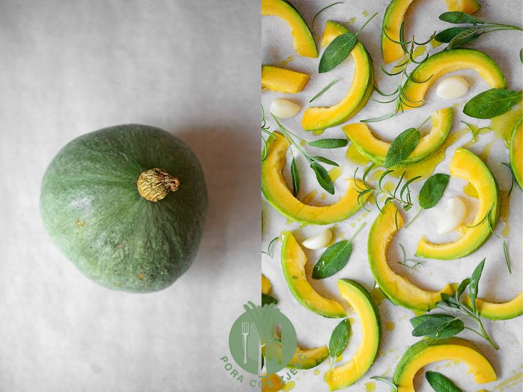 Artistic blue hokkaido pumpkin. Food art, food photography.