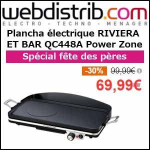 plancha electrique riviera et bar qc448a power zone