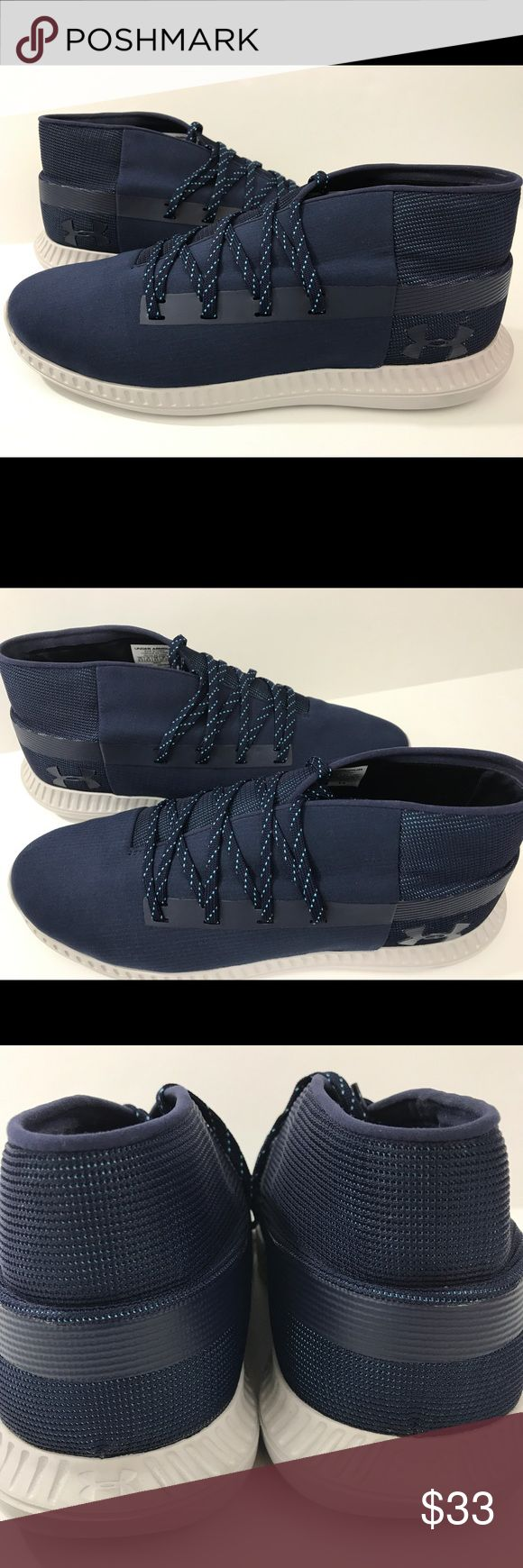 Under Armour UA VELOCE mid top basketball size 9.5 Under Armour mid top basketball shoe Navy blue New, No Box Size 9.5 Exactly as pictured  2-3 days to your door!! 😁😁😁 Under Armour Shoes Athletic Shoes