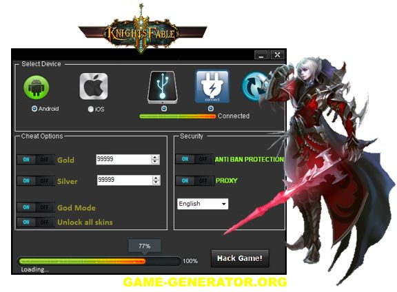 The only working hack for the browser fantasy, Knight's Fable is now available to download from our site.