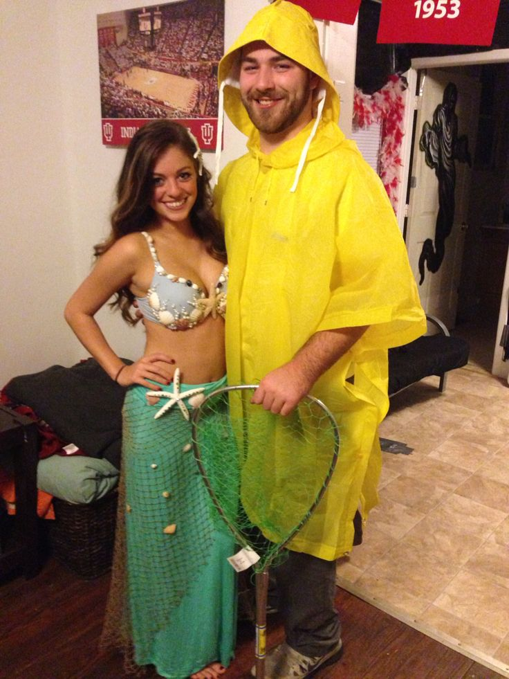 Mermaid and fisherman costume!