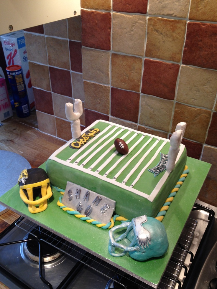 American Football Birthday Cakes Short News Poster Picture