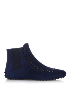 Gommino suede ankle boots    Tod's   MATCHESFASHION.COM