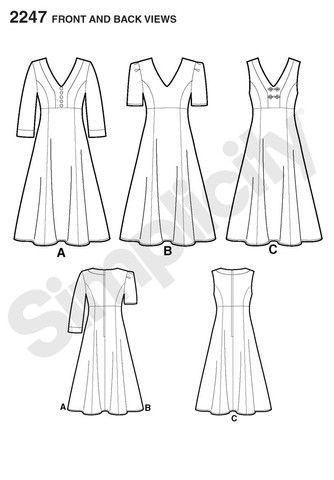 S2247 Misses' & Plus Size Dresses | Amazing Fit