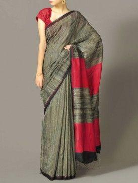 Buy Kantha Cotton Saree Online 3