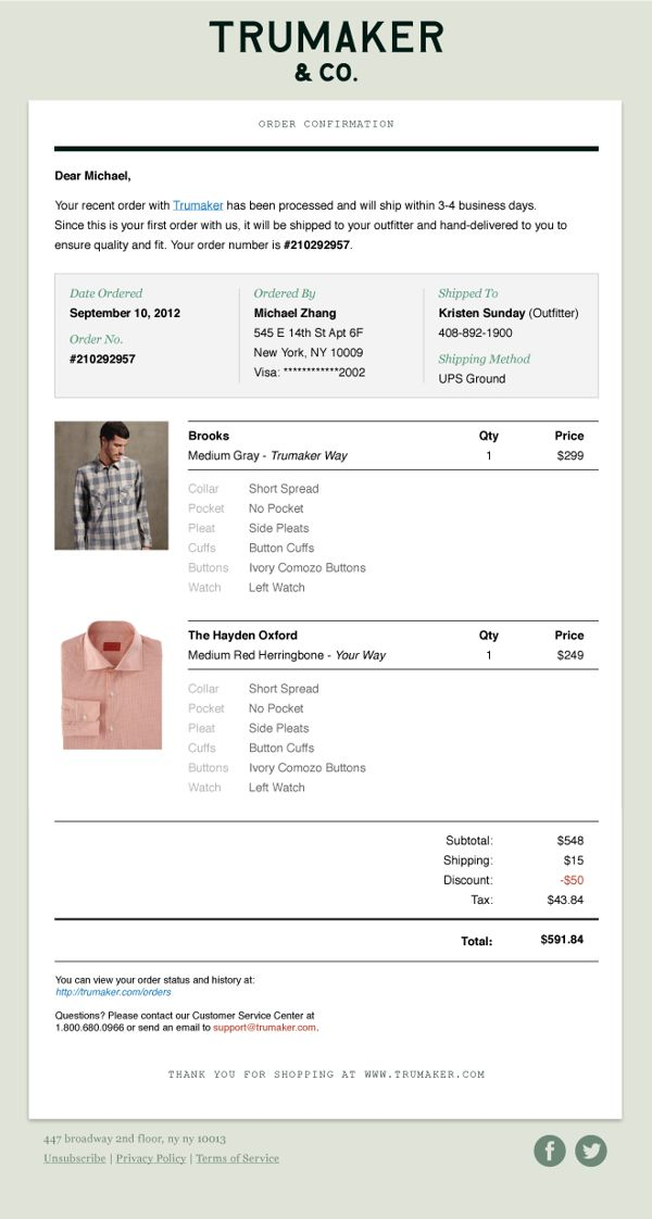 Custom Men's Shirts E-commerce Website by Ching Hsieh, via Behance