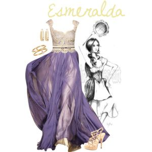 Esmeralda inspired dress looks spectacular and the belt is a nice touch to the outfit.