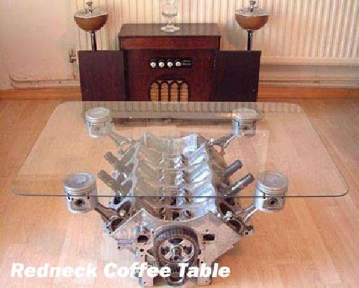 Redneck coffee table