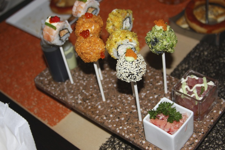 Celebrity Eclipse Sushi Pops at Qsine