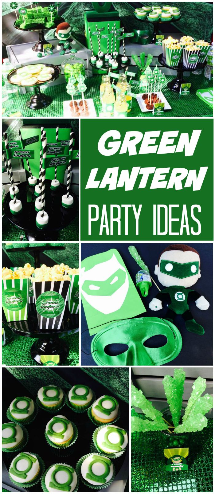 How great is this modern Green Lantern party?! See more party ideas at CatchMyParty.com!