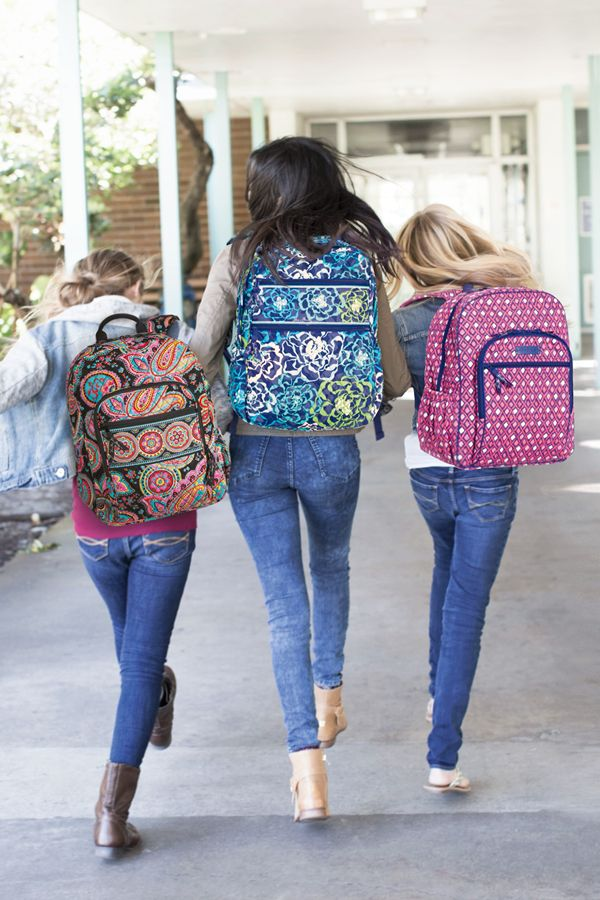 Hit the hallways in style! Whether you're carrying a bunch of textbooks or a laptop and a few notebooks, Vera Bradley has the perfect backpack for you.