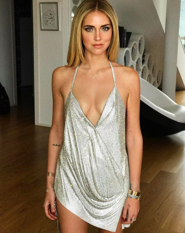 • @opfavestyles  May 6 More  Chiara Ferragni wearing a custom made Swaroski shiny dress for her 30th birthday party