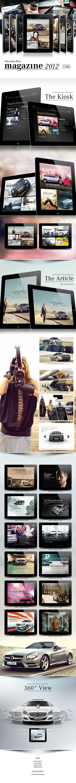 Mercedes-Benz iPad Magazine 2012 by David Brenner, via Behance