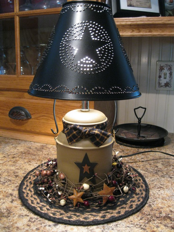17 Best Ideas About Primitive Lamps On Pinterest Country