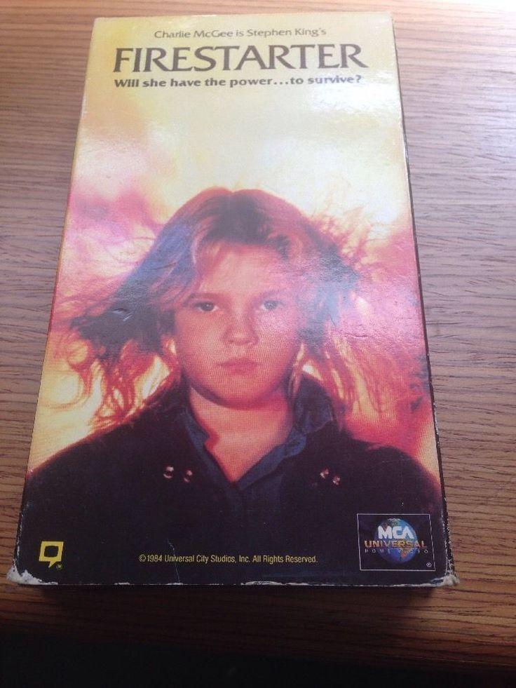 Firestarter Stephen King Drew Barrymore VHS