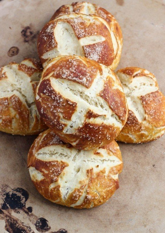 Salted Pretzel Rolls | 26 Soft Pretzel Recipes For National Pretzel Day