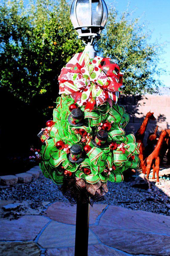 8898e75b5a4 Deco Mesh Swanky Top Hat Christmas Tree-Festive