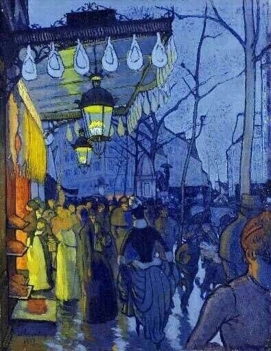 Vincent Van Gogh - Cafe Terrace at Night // Paul Gauguin - Avenue de Clichy