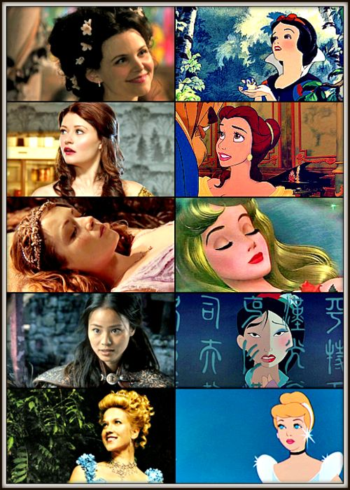 Once Upon A Time: Characters from TV Show vs Disney Version