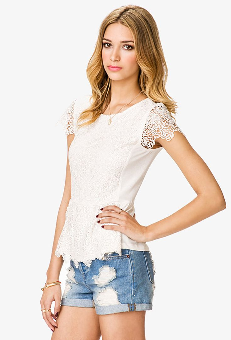 Johnny was long sleeve eyelet tunic in pink blush save 63 lyst - Femme Crochet Blouse Forever21 2040205282
