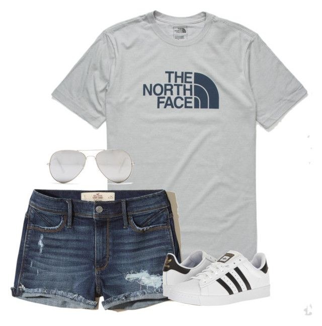 Untitled #12 by gpshow on Polyvore featuring polyvore, fashion, style, Hollister Co., adidas, Sunny Rebel, The North Face and clothing