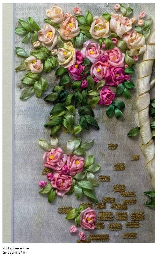 Love the pretty ribbonwork Roses and leaves!