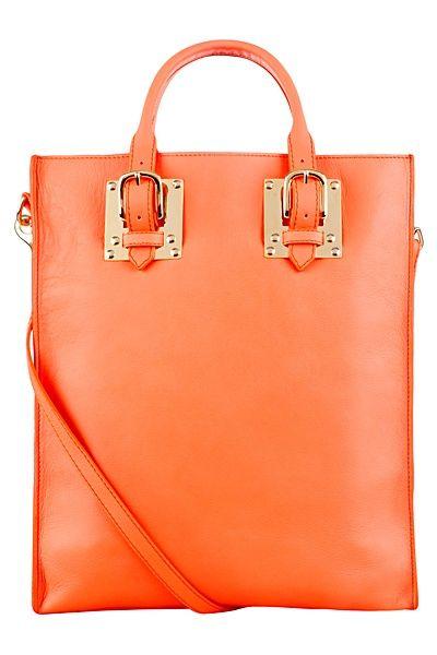 Sophie Hulme - Accessories orange tote bag - 2013 Spring-Summer