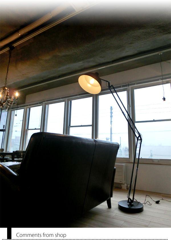 【楽天市場】フロアライトMARTTI FLOOR LAMP(マルティフロアランプ)EN-017(BK/GY/WH/SV)【照明器具/間接照明/フロアライト/スタンドライト/デザイナー/LED電球/電球型蛍光灯/組立式/大きい/インダストリアル/ジャンク/一人暮らし/リビング/ダイニング/】:DOTS.n(インテリア「間接」照明)