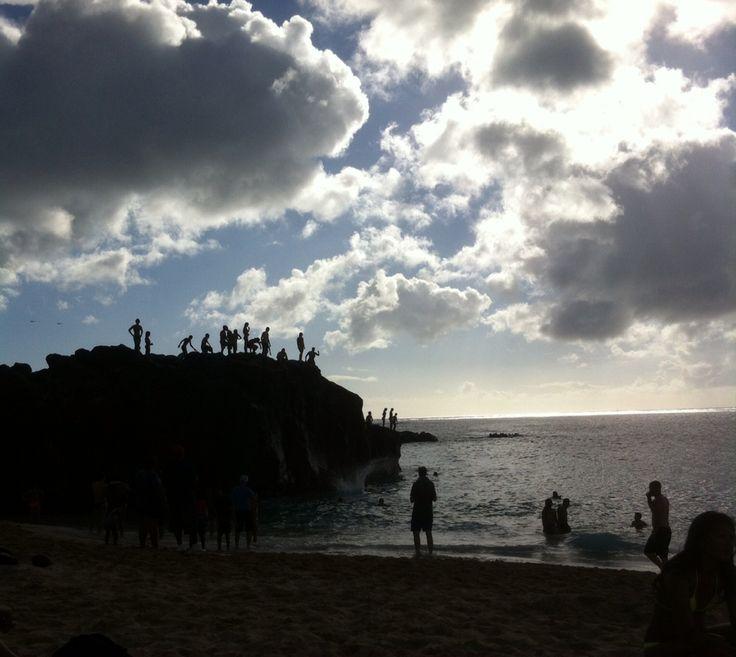 Jumping off Waimea rock -Waimea, Hawaii