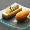 (Biscotto al pistacchio), marmellata di arancia, cremoso alla vaniglia e sorbetto  all'arancia   (crema leggere al pistacchio) (crema pasticcera e pasta di pistacchio) (cremoso alla vaniglia) ricette