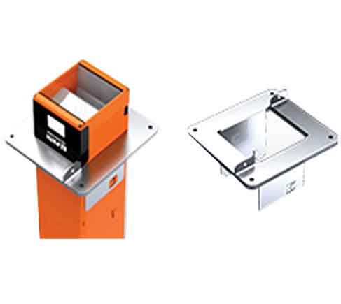 EZ-Path Series 44+ fire-rated device kit with single, split-floor plate and labels, Fits 6 in.