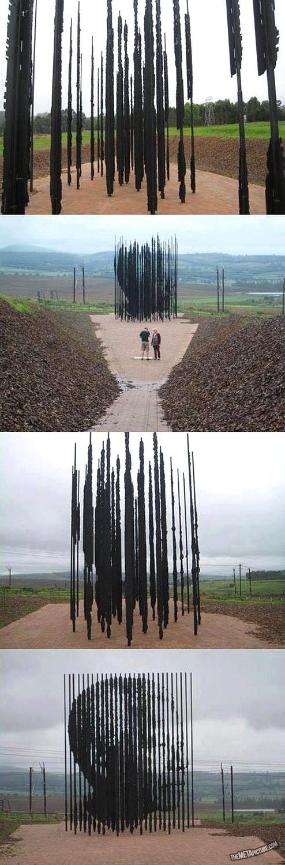 Nelson Mandela land art sculpture