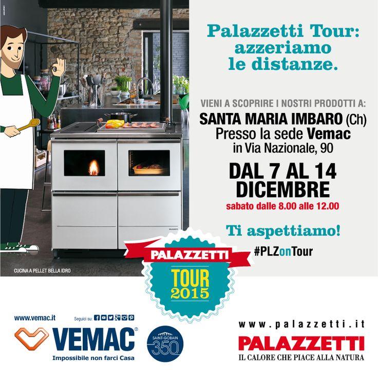 Dal 7 al 14 Dicembre nella nostra sede di Santa Maria Imbaro farà tappa il PALAZZETTI TOUR 2015. Un tour per farvi conoscere i prodotti e le soluzioni #Palazzetti. Partecipate all'evento condividendo e commentando in diretta con l'hashtag #PLZontour. www.palazzettitour.com