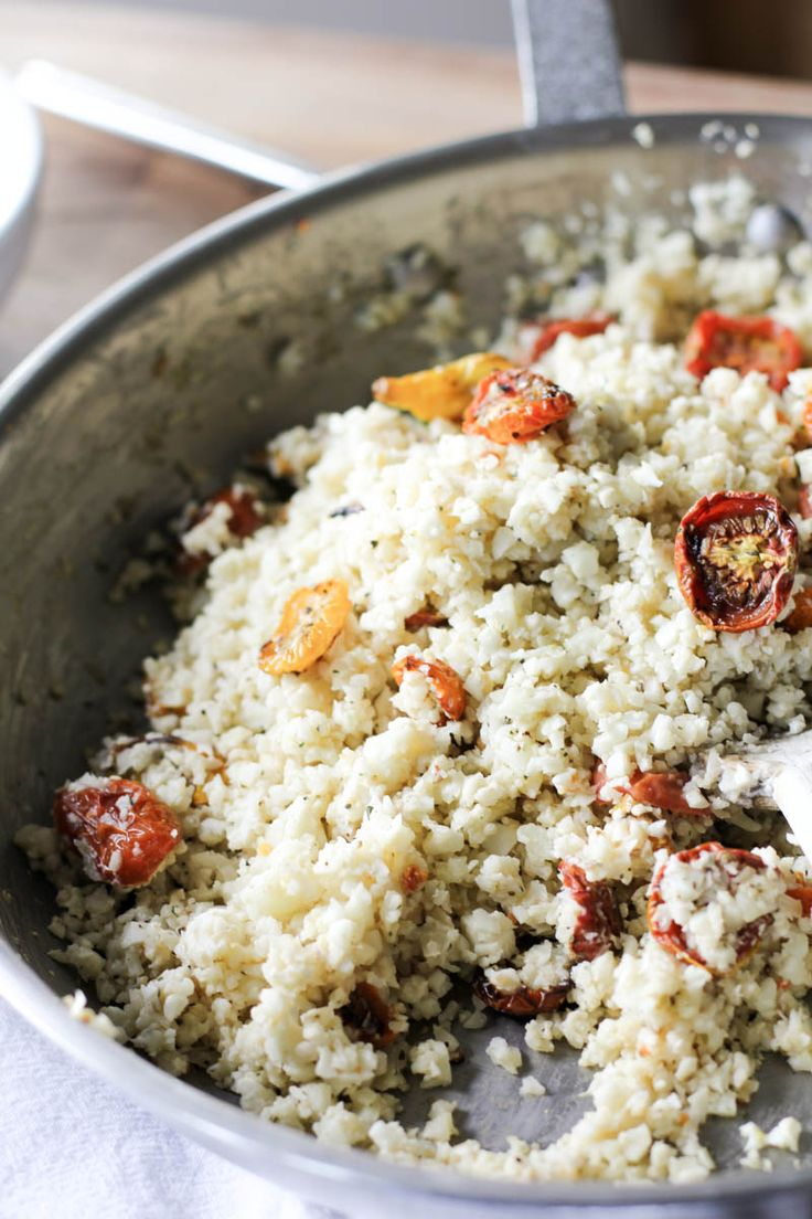 Roasted Mini Heirloom Tomatoes with Creamy Cauliflower Rice (v) | Julie's Jazz