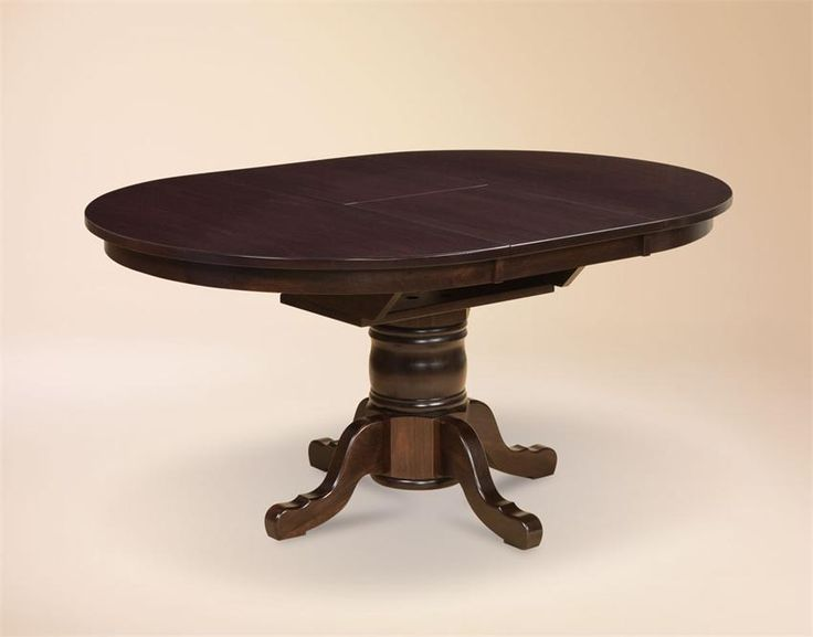 amish marbella single pedestal dining table with butterfly leaf amish furniture