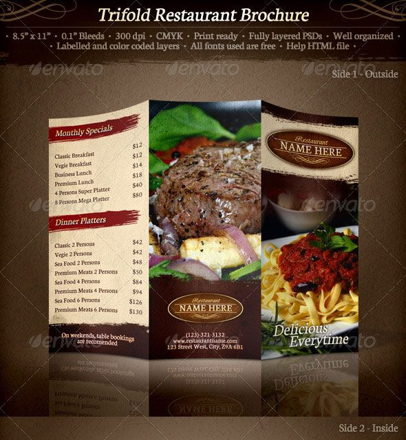 42 Best Menu Design Images On Pinterest | Restaurant Menu Design