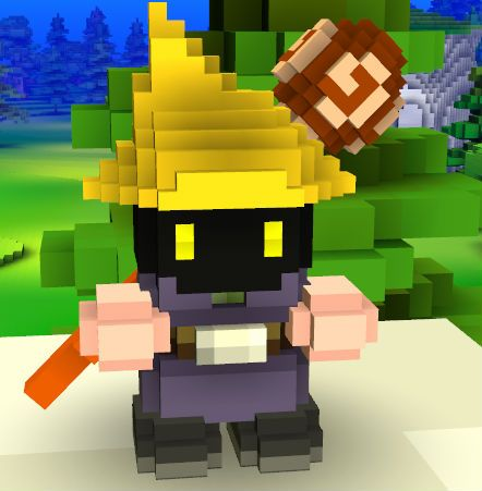 Black Mage Cube World Skin