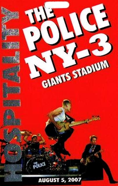 Poster The Police 5 de Agosto del 2007 Giants Stadium