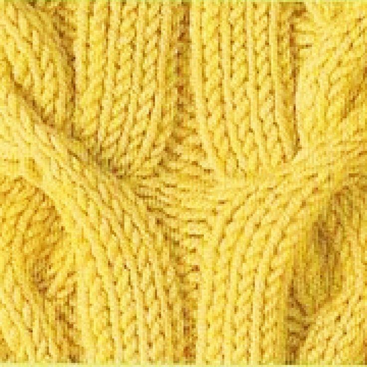 вязание спицами узор коса схема