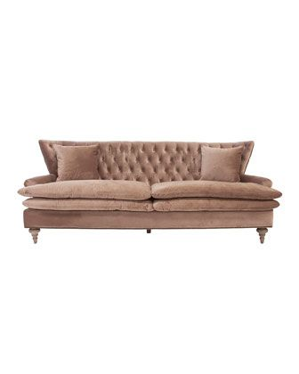 Chesterfield sofa samt  Die besten 25+ Velvet tufted sofa Ideen auf Pinterest | Tufted ...