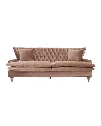 Chesterfield sofa samt  Die besten 25+ Velvet tufted sofa Ideen auf Pinterest | Tufted ...