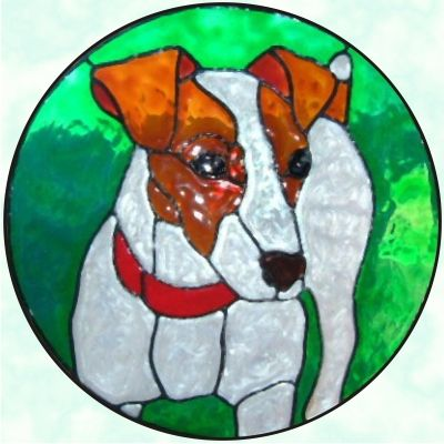 495 Best Stained Glass Dogs Images On Pinterest Glass