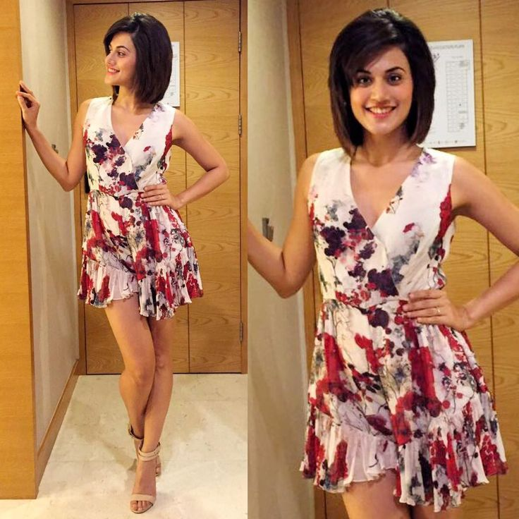 Tapsee Pannu in a floral printed dress from Varun Bahl for the Phoenix market city store visitPicture: Instagram