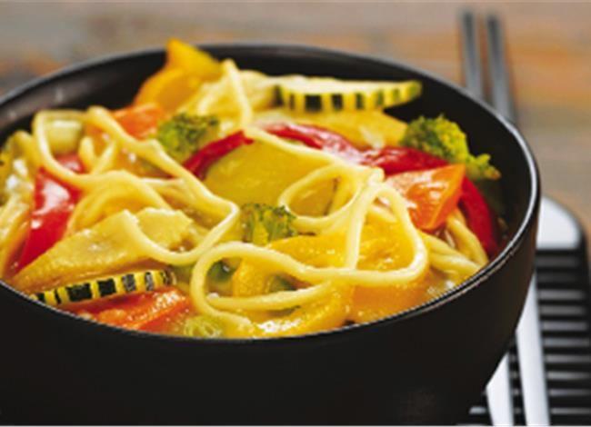Μεσογειακό Σπαγγέτι με λαχανικά